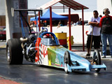 Gary Curmi's Toyota Supra Dragster Holding a new World Record. (c) greekdragster.com - The Greek Drag Racing Site, since 2001.